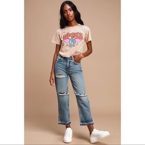 Lita Light Wash Distressed High Waisted Jeans